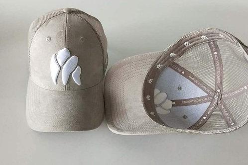 Grey Suede Gorilla Trucker Cap