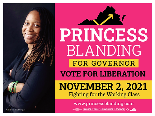 Picture Yard Sign - Princess Blanding for Governor