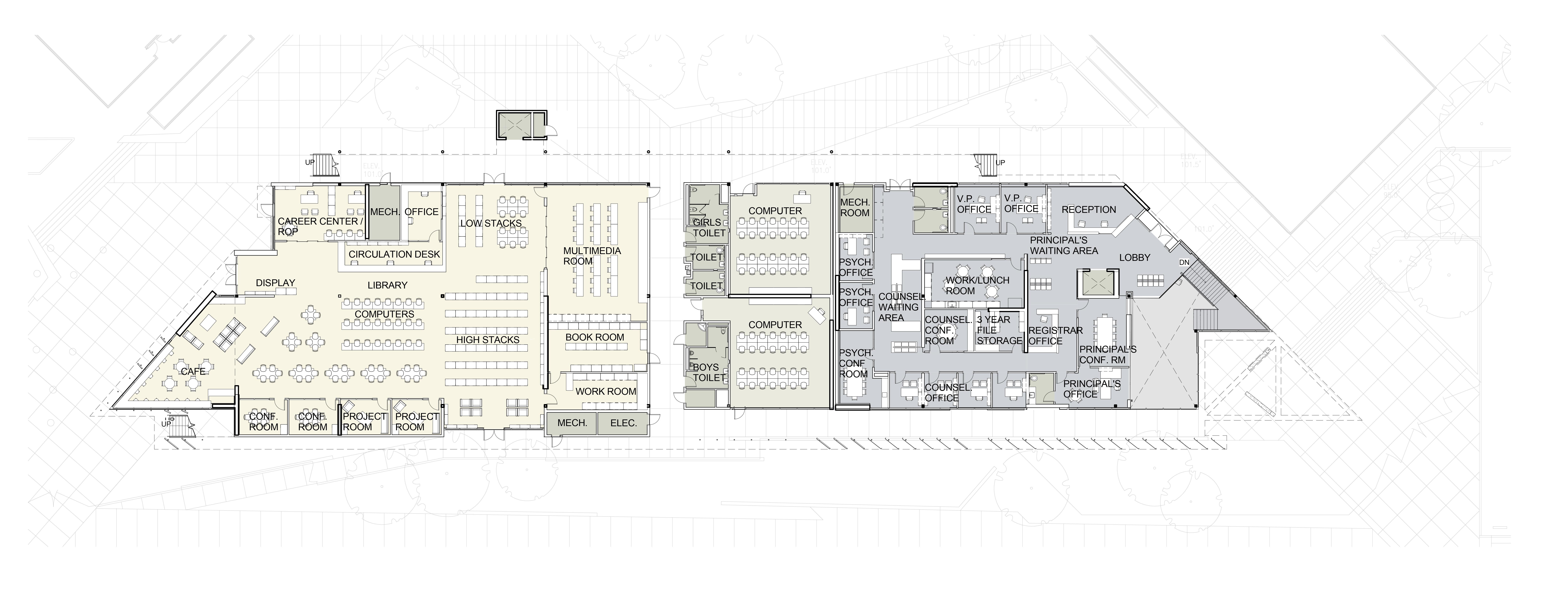 level 2 (courtyard) plan