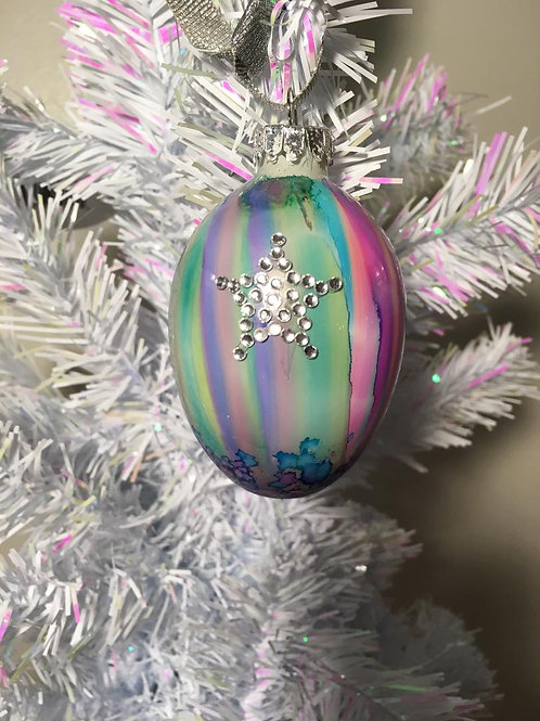 #6 Hand Painted Glass Bulb Ornament