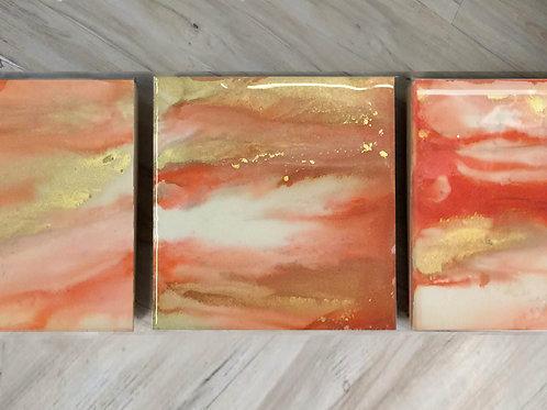 4 Golden Sunset Coaters ($40)