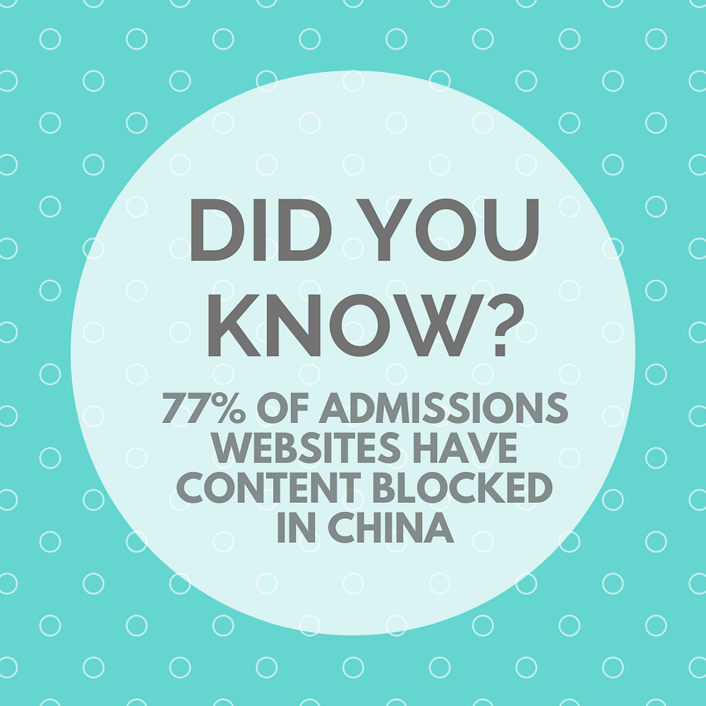 University admissions websites with blocked content - eduFair China