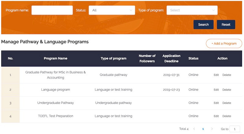Programs - eduFair China