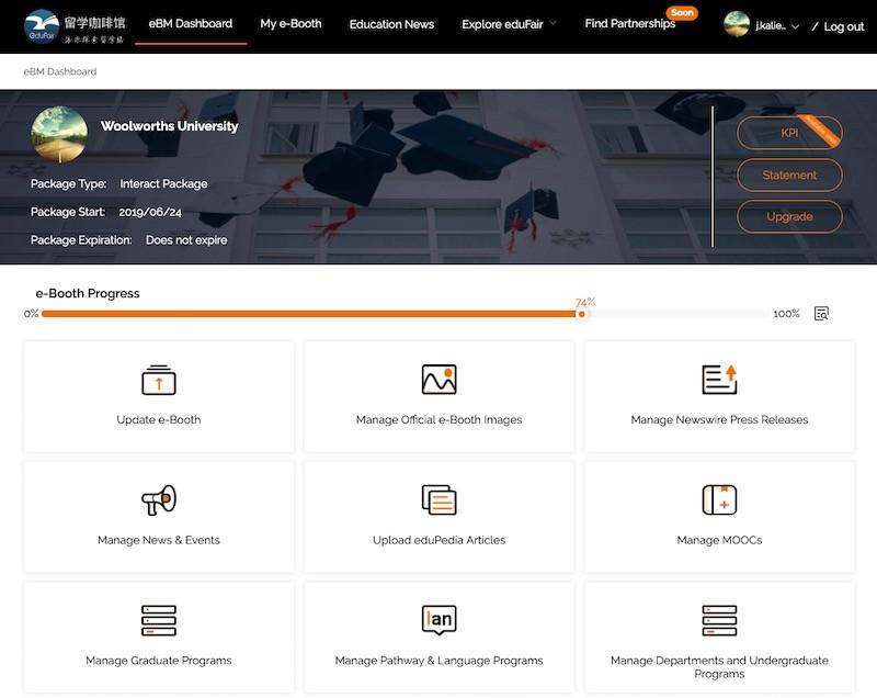 eBM Dashboard - eduFair China