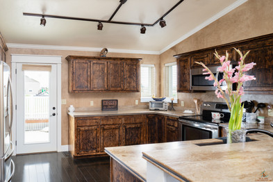 Custom Stained Kitchen Cabinets