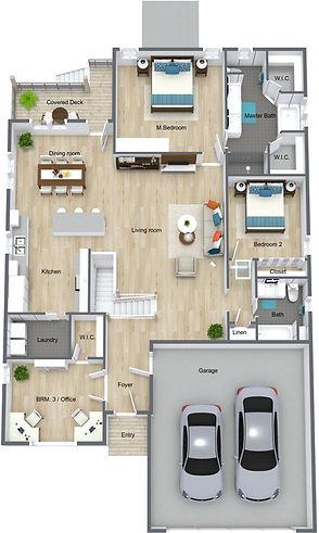 The Fitzgerald - Main Level - 3D Floor P