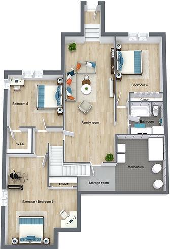 The Fitzgerald - Basement - 3D Floor Pla