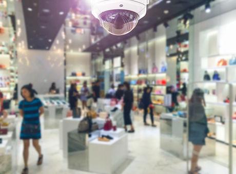 CCTV security camera on shopping departm