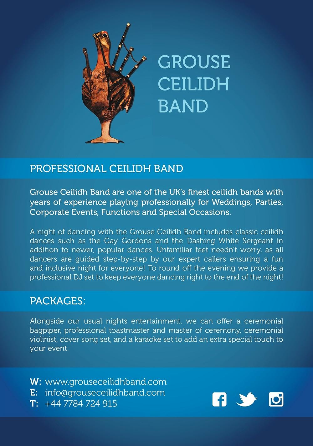 Grouse Ceilidh Band Handout