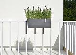 ECOPOTS Hanging Bruges planter and flower pot for balcony