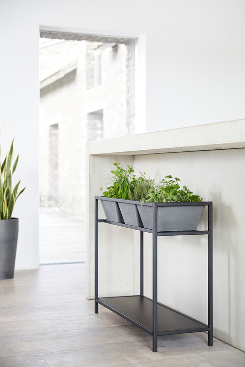 Ecopots Berlin Herbtable in Grey