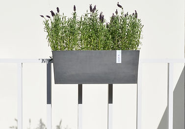 ECOPOTS Hanging Bruges planter and flowerpot with invisible suspension system