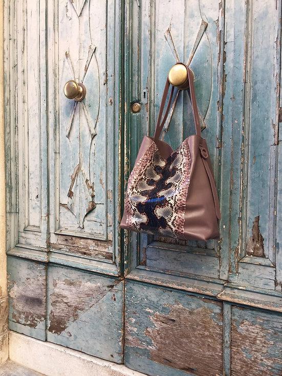 luxury python handbag