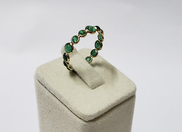 Round Emerald Eternity Bands