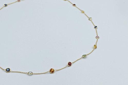 Multi semi-precious necklace