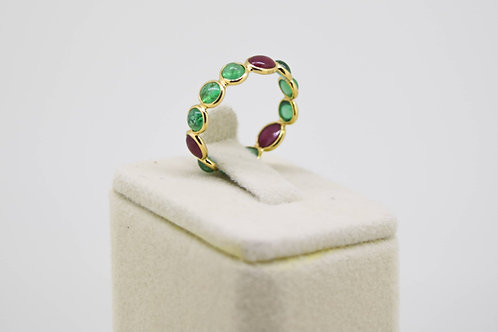 Ruby and Emerald Eternity Band