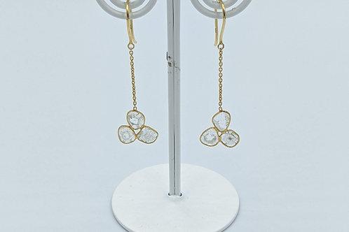 Tri-Diamond Polki Earring