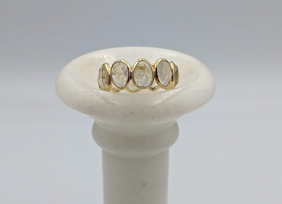 Rutile Eternity Band in 18K Gold