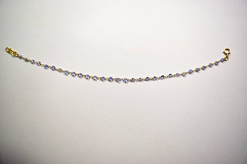 Drilled Tanzanite bracelet