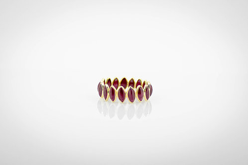 Charming Ruby Marquise Eternity Band