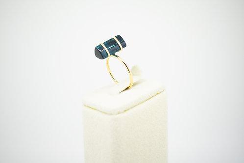 Robust Green Tourmaline Tumble Ring
