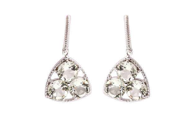 Super Shiny Crystal Earrings in 925 Silver