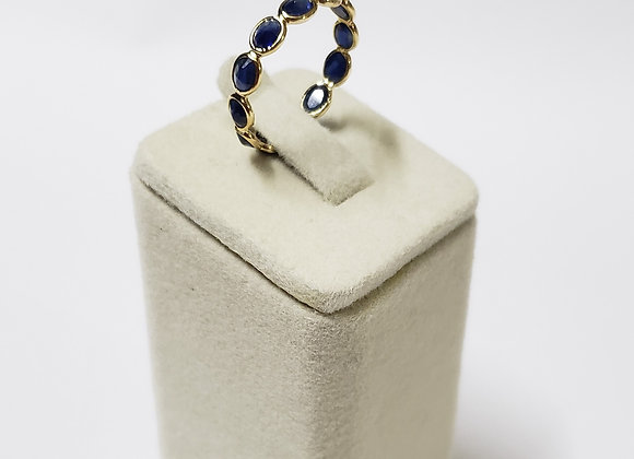 Elegant Blue Sapphire Eternity Band in 18K Gold