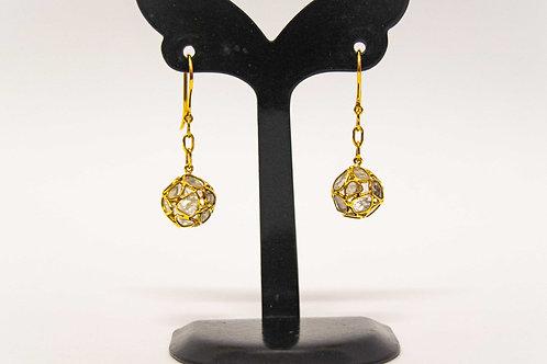 Diamond Ball Earring