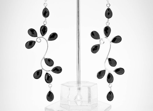 Black Onyx Earrings in 925 Sterling Silver