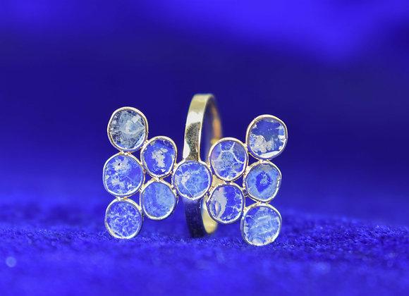 Modern Look Diamond Polki 18K Gold Ring