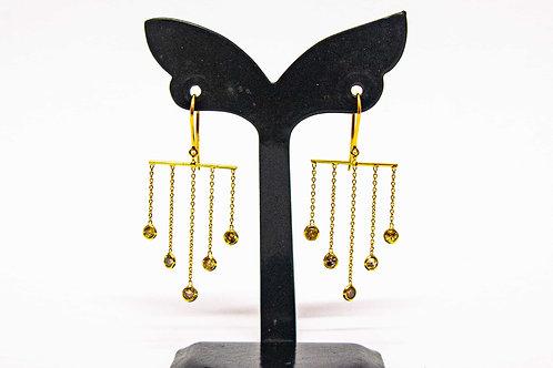 Diamond 5-line ladder earring