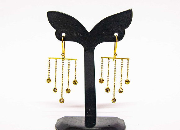 Fine quality Diamond Earring with 18K Gold