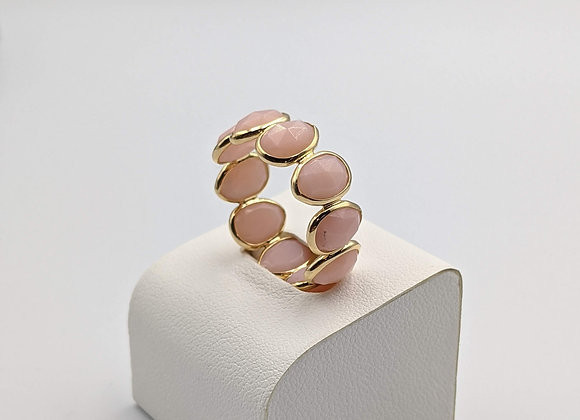 Pink Opal Eternity Band; Stackable Bands in 18K Gold