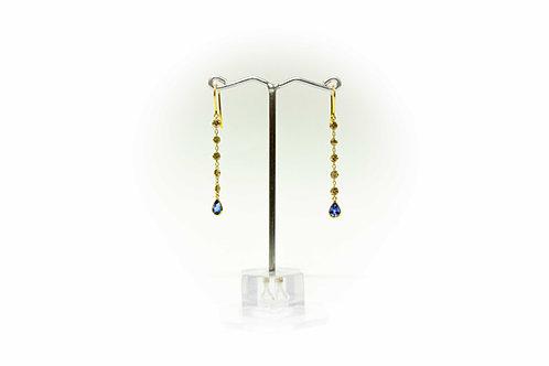 Drilled Diamond single line earring