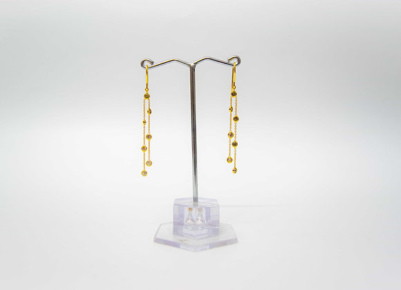 Diamond drops 18K Gold Earring