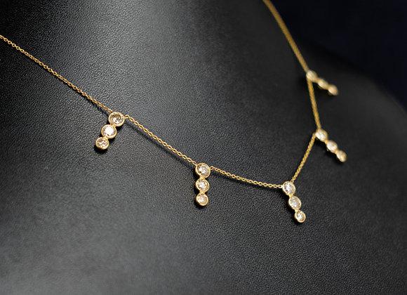 Tri Bar Diamond Necklace in 18K Gold