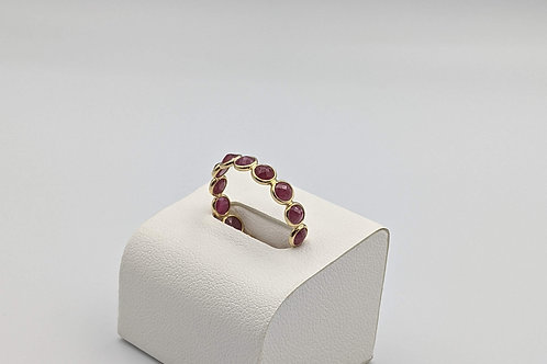 Ruby Cabochons Eternity Band