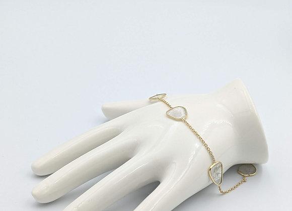 Gorgeous Diamond Polki Slices Bracelet