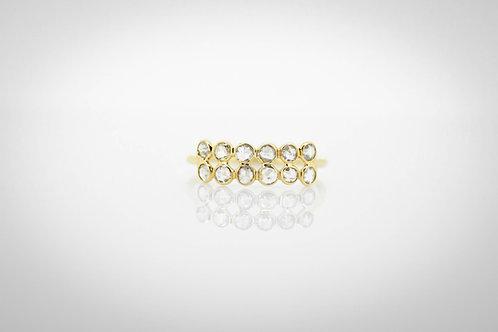 Rose Cut Cluster Diamond Ring