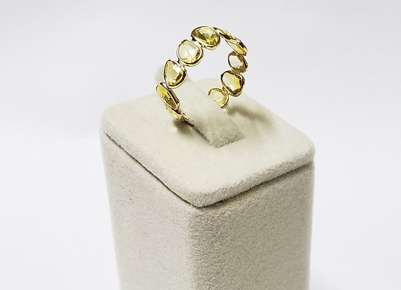 Sunny Eternity Band in Yellow Sapphire