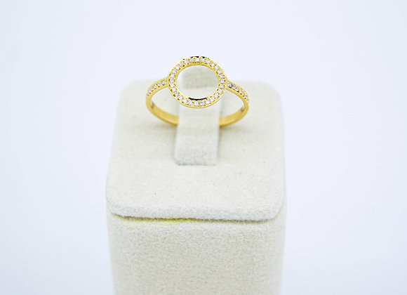 Premium Ring with Micro-Pave Diamond setting in 18K Gold