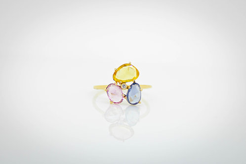 Handcrafted Multi-Sapphire ring