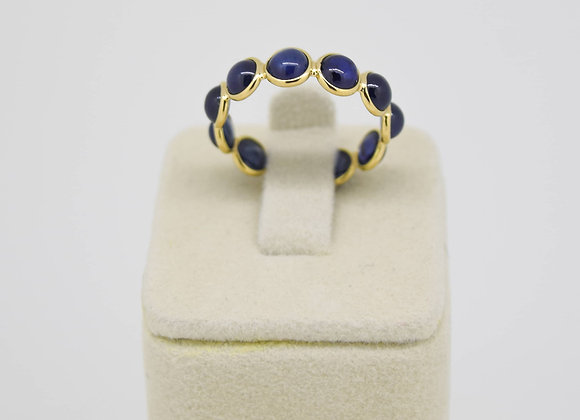 Blue Sapphire Eternity Band in 18K Gold