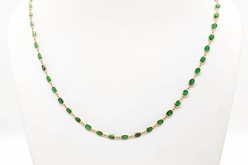 Minimal & Rich Emerald Necklace