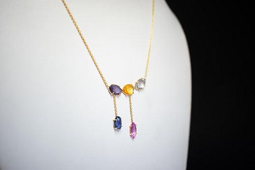Minimal & Lightweight Multi Sapphire Necklace