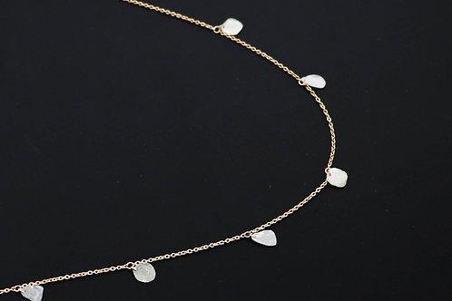 Minimal Drilled Diamond Polki Bezel Chain