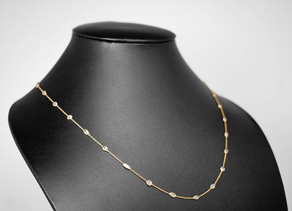 Rich Rose Cut Diamond Bezel Chains