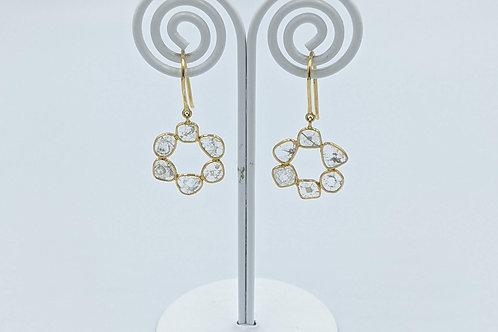 Lightweight Diamond Polki Earring