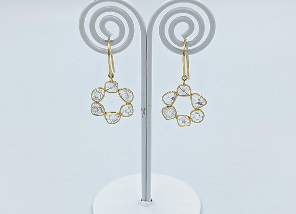 Lightweight Diamond Polki Earring in 18K Gold