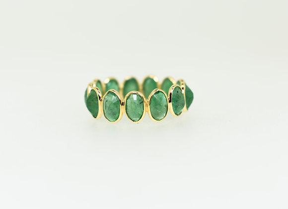 Beautiful Emerald 18K Gold Eternity Band